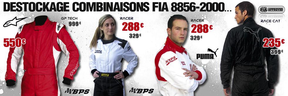 Destockage combinaisons FIA 8856-2000
