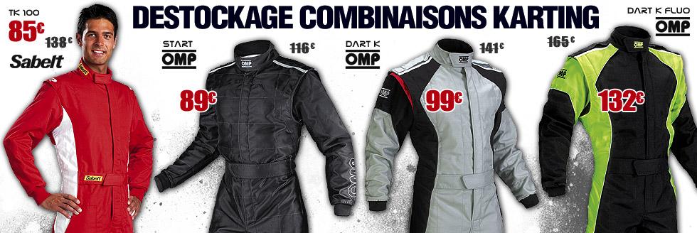 Destockage combinaisons karting