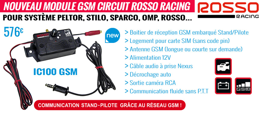 Nouveau module gsm circuit rosso racing