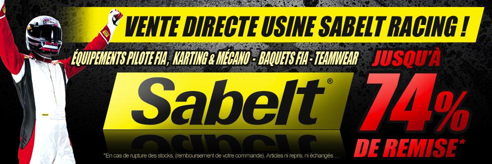 Destockage Sabelt Racing, vente directe usine