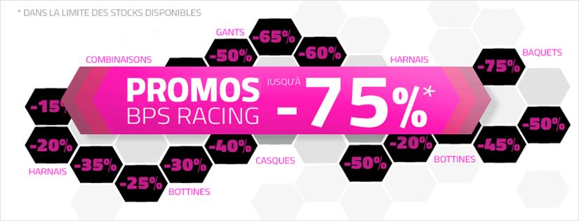 Promotions jusqu'à -75% chez BPS RACING
