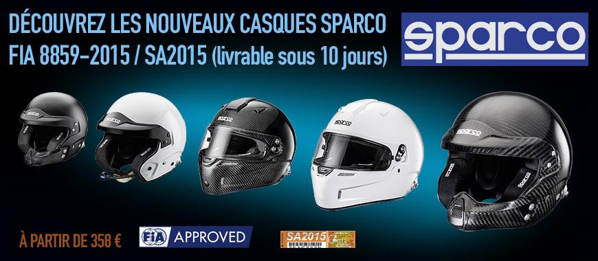 Nouvelle gamme de casques Sparco SA2015