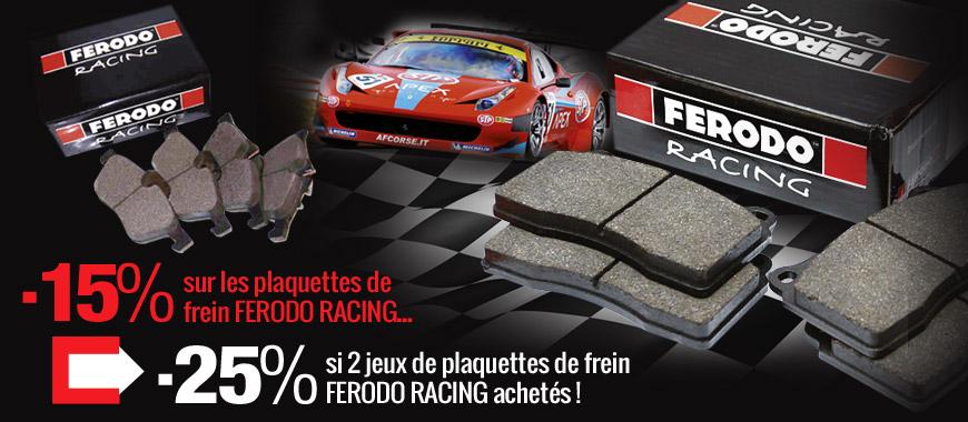 Plaquettes ferodo racing en promo