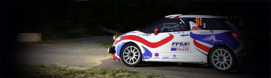 Eclairage électricité pour le sport automobile