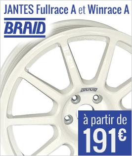 Jantes Braid Fullrace et Winrace à partir de 191 euros