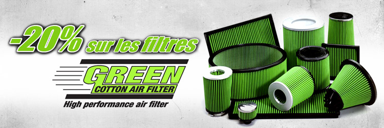 20% de remise sur les filtres Green