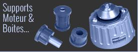 Silents-blocs pour moteur et boite