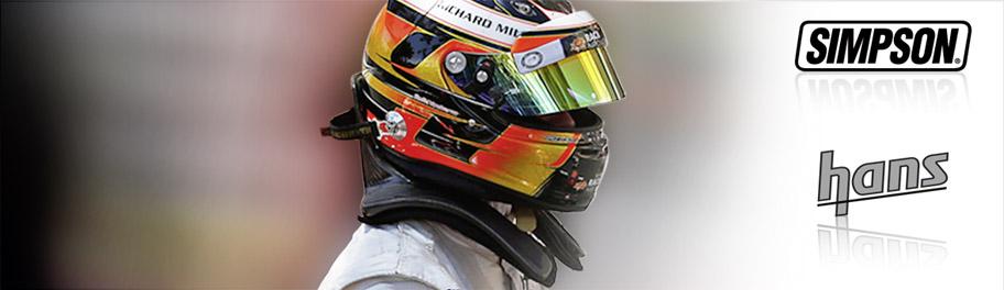 Système de retenue frontale, Hans ou Hybrid pour la pratique du sport automobile