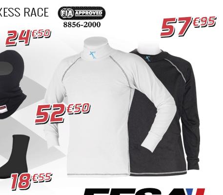 Sous-vêtements FIA AXESS RACE obligatoire kart cross, ufolep open