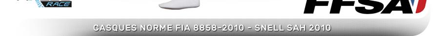 CASQUES norme fia 8858-2010 - snell sah 2010 homologués jusqu'à fin décembre 2023